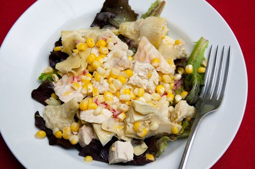3. Artichoke, Chicken and Corn Grain Salad