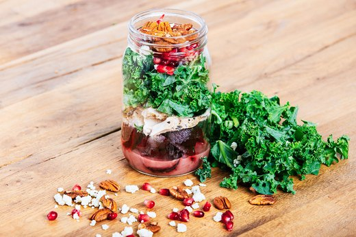 6. Chicken, Kale and Beet Salad