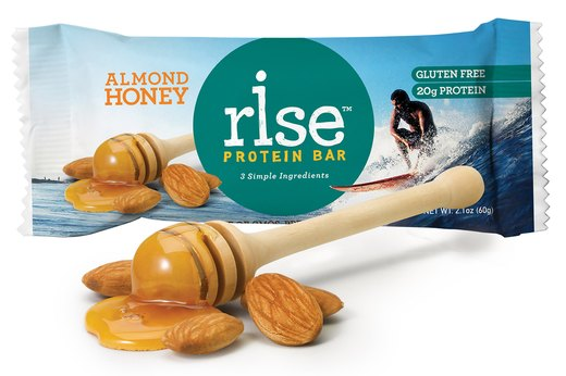 1. Rise Almond Honey Protein Bars