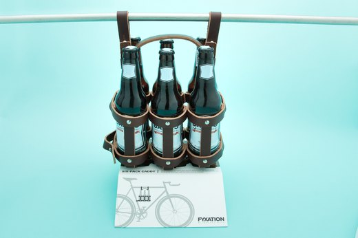29. Fyxation Leather Bicycle Six Pack Caddy