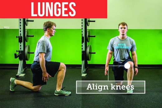 7. Lunges