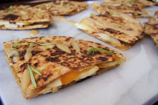 9. Turkey, Apple and Cheddar Quesadilla (Leftover: Roasted Turkey)