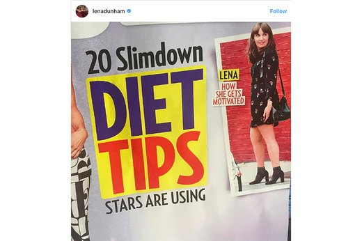 "1. US Weekly Shares Lena Dunham's ""Slim-Down Secrets"""