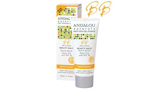 21. BEST TINTED MOISTURIZER WITH SPF: Andalou Naturals All-In-One Beauty Balm, Sheer Tint, SPF 30
