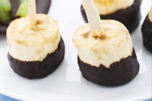 4. Dark Chocolate-Covered Frozen Bananas