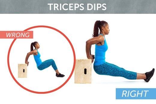 8. Triceps Dips