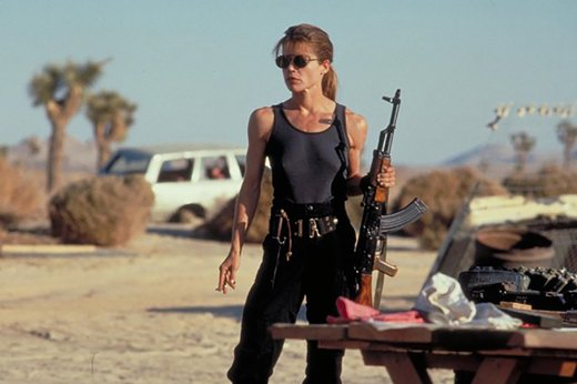 "7. Linda Hamilton in ""Terminator 2: Judgment Day"""