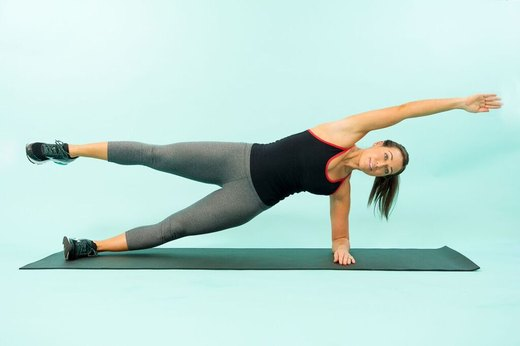 5. Side Plank Rip Curl