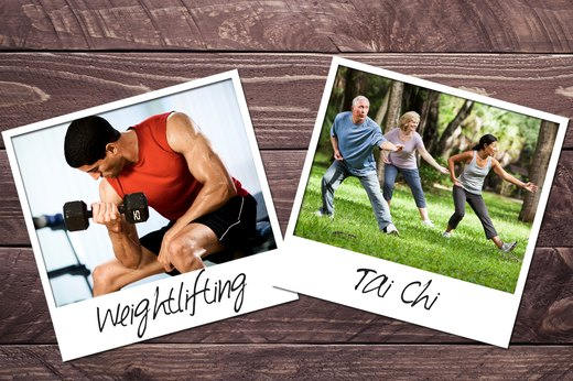 7. Weightlifting + Tai Chi