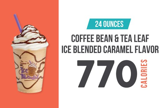 11. Coffee Bean and Tea Leaf Ice Blended Caramel Flavor