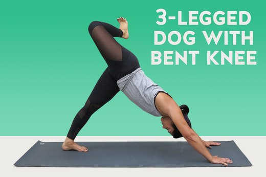 6. Three-Legged Dog With Bent Knee