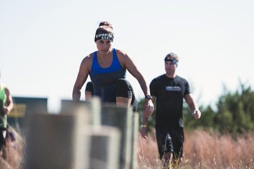 3. Spartan Sprint: Upright Log Leaps