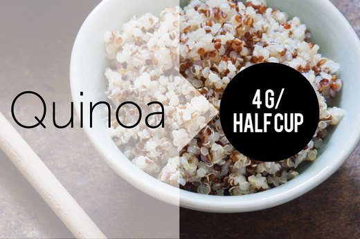 3. Cooked Quinoa (½ Cup): About 4g of Protein