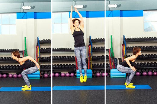 Plyometric Jumps With 180-Degree Rotations