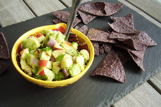 3. Autumn Apple and Avocado Guacamole