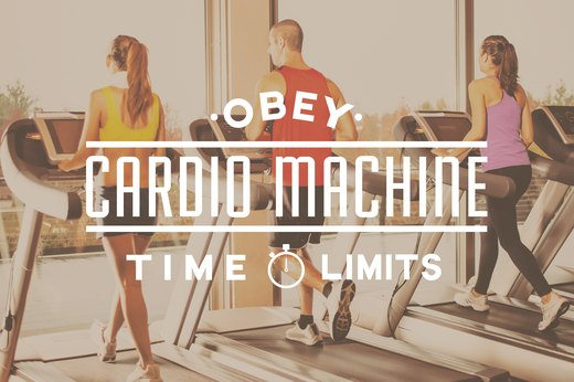 2. Obey Cardio Machine Time Limits
