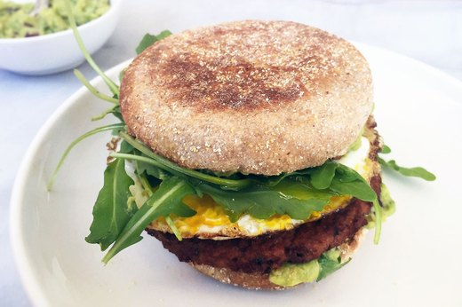 2. Semi-Handmade Breakfast Veggie Burger