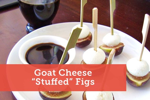 5. Goat Cheese Stuffed Figs