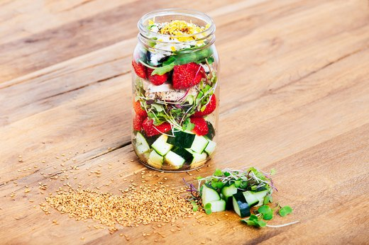 10. Strawberry, Cucumber and Chicken Salad