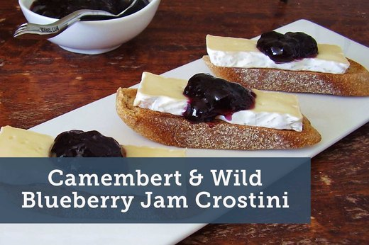 4. Camembert and Wild Blueberry Jam Crostini