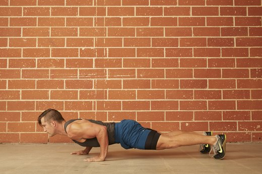 5. Staggered Hand Push-Up