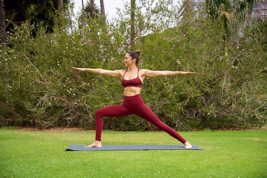 2. Warrior II to Extended Side Angle Pose