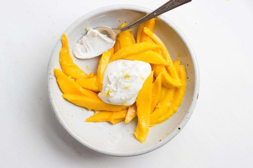 6. Mango Salad With Lemony Coconut Creamc