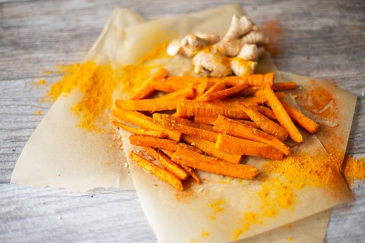 6. Spicy Gingered Carrot Fries