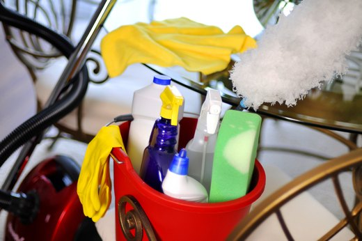 42. Half-Used Cleaning Supplies