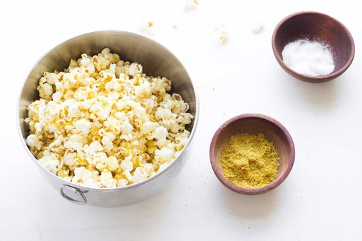 12. Cheesy Garlicky Popcorn