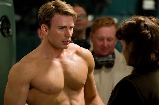 "28. Chris Evans in ""Captain America"""