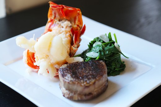 1. Surf and Turf With Steamed Spinach
