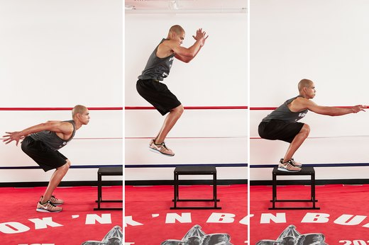 6. Box Jumps with a Squat