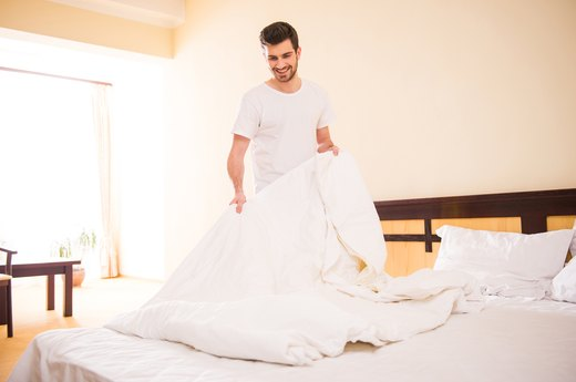 MYTH #8: You should change your bedsheets every month or so.