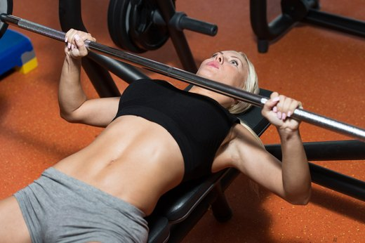 1. Bench Press 75 Percent of Your Body Weight