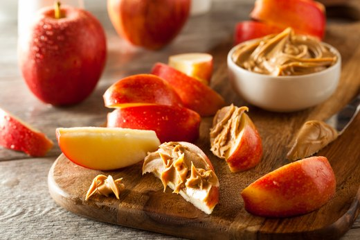 13. Apple with Natural Peanut Butter