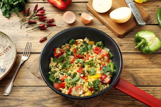 5. Eggs with Veggies