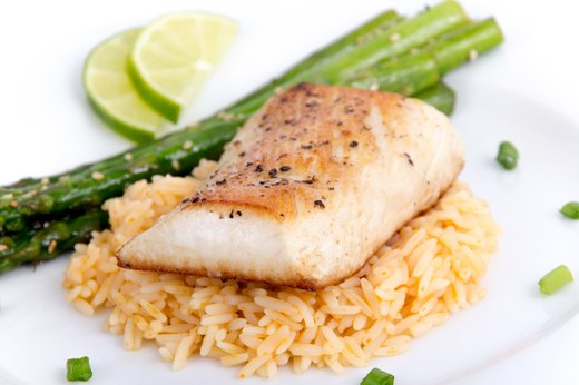 9. Baked Fish With Brown Rice and Veggies