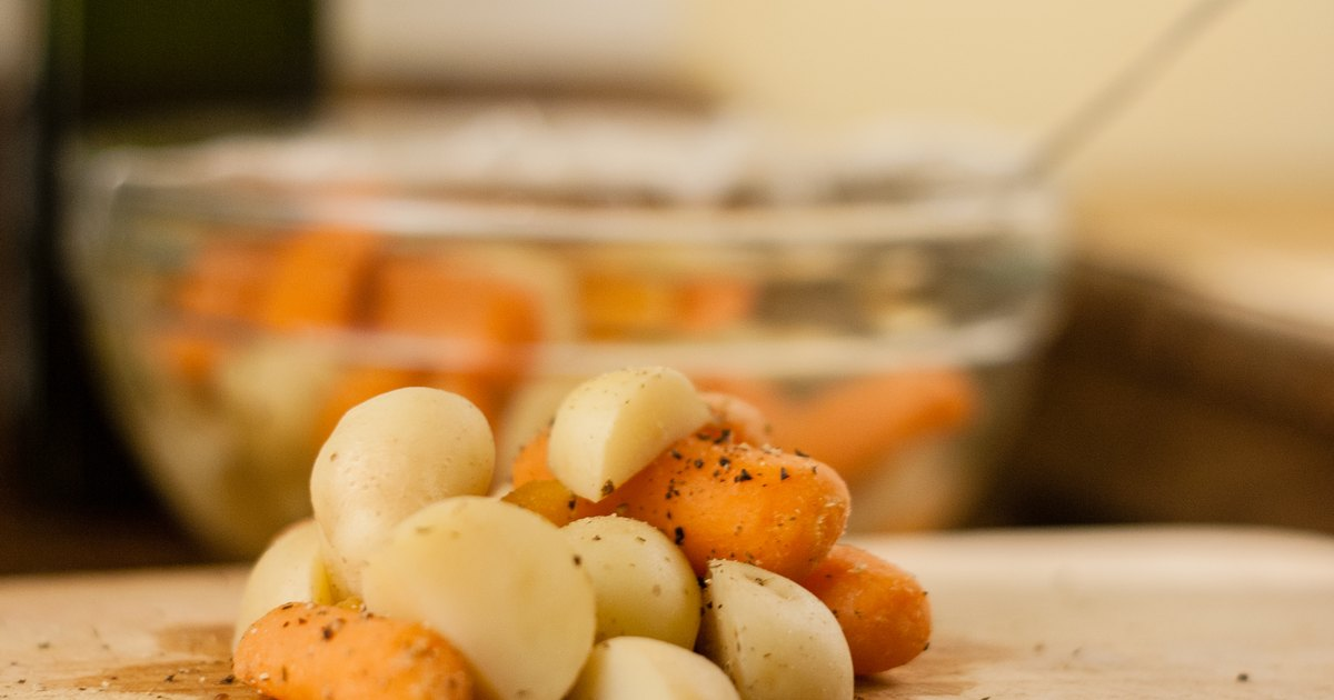 How To Cook New Potatoes Amp Carrots In The Microwave