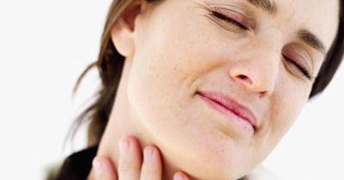 Sore throat swollen gland tender boobs
