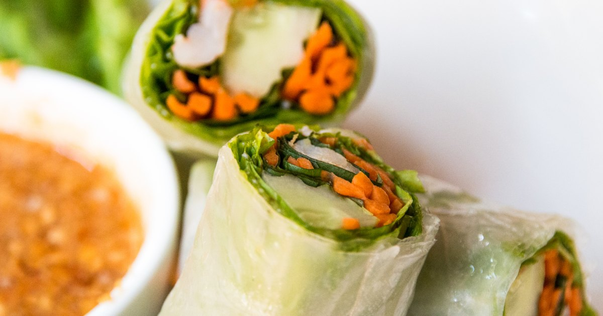 calories in rice paper Chinese food nutrition facts: menu choices & calories low-calorie chinese food at 100-200 calories per roll but steamed rice paper egg rolls are.