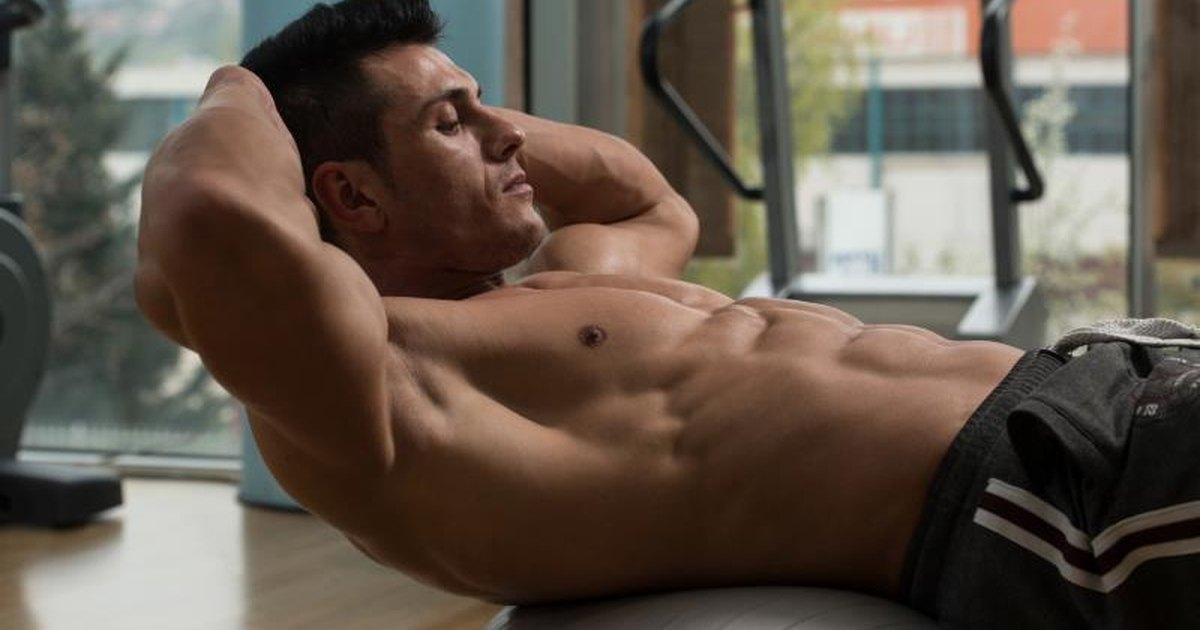 nake man with flat abs
