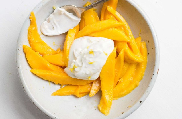 Mango Salad With Lemony Coconut Cream