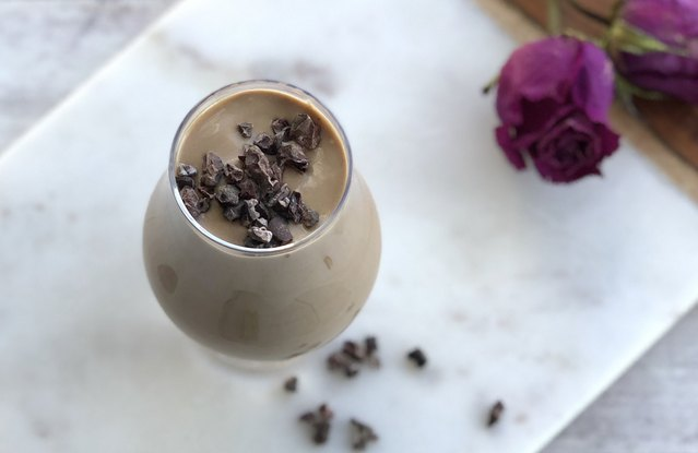Cafe Mocha Shake with Cacao Nibs