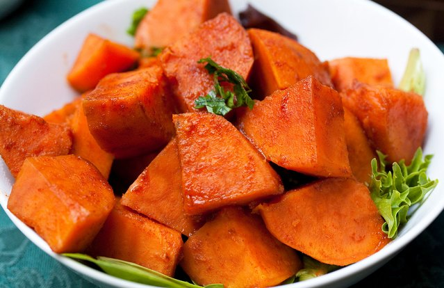 Smoky Maple Sweet Potatoes
