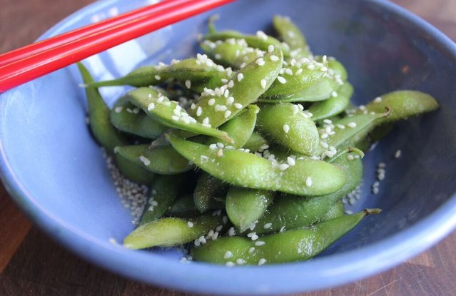 Edamame with Soy and Sesame