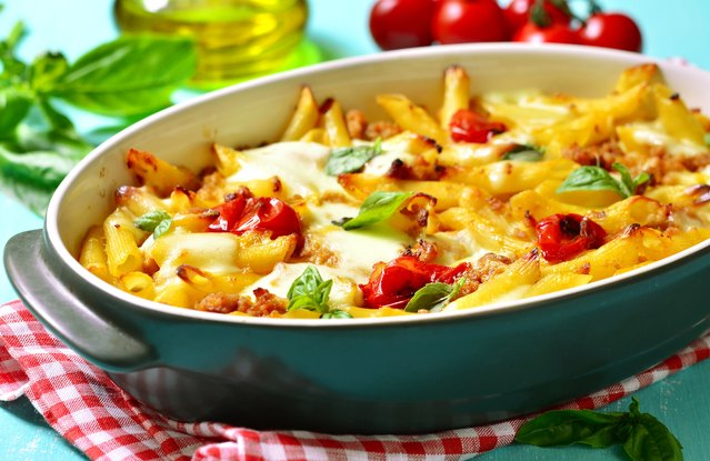 Baked Penne with Seasonal Vegetables