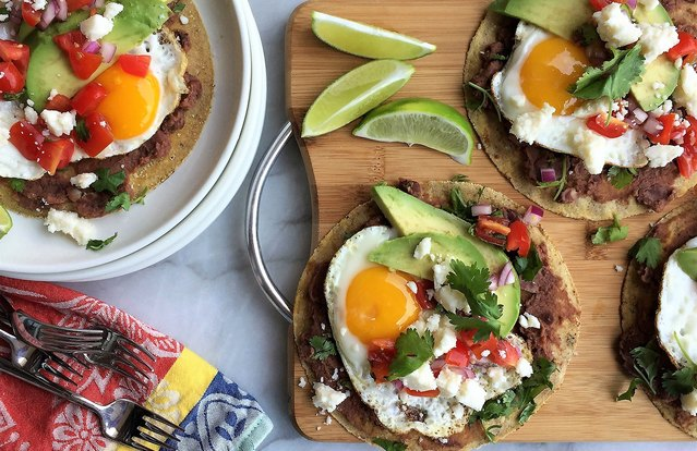 Breakfast Tacos with Eggs, Avocado & Cotija