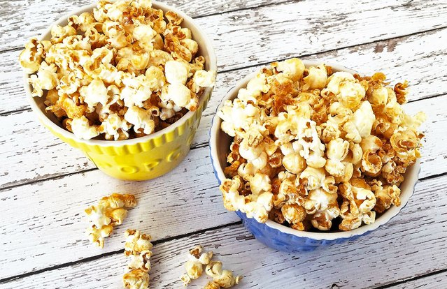 "Sneaky Salted ""Caramel"" Popcorn"