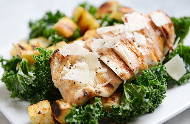 Chicken Kale Salad with Parsnips